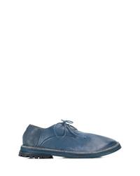 Zapatos derby de cuero azules de Marsèll