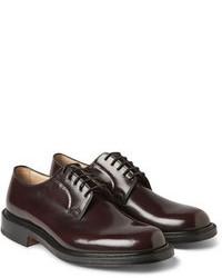 Zapatos derby de cuero burdeos