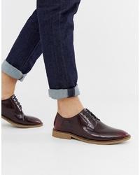 Zapatos derby de cuero burdeos de ASOS DESIGN
