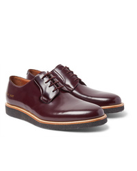 Zapatos derby de cuero burdeos de Common Projects