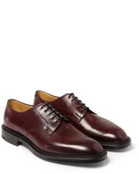Zapatos derby de cuero burdeos de Edward Green