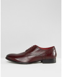 Zapatos derby de cuero burdeos de Base London