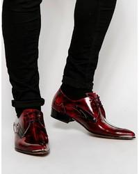 Zapatos derby de cuero burdeos de Jeffery West
