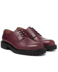 Zapatos derby de cuero burdeos de Mr P.