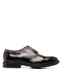 Zapatos derby de cuero burdeos de Paul Smith