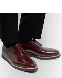 Zapatos derby de cuero burdeos de Common Projects