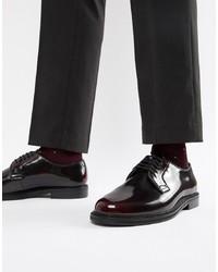 Zapatos derby de cuero burdeos de WALK LONDON