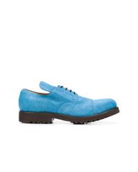 Zapatos derby de cuero celestes de Holland & Holland