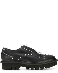 Zapatos derby de cuero con tachuelas negros de Neil Barrett
