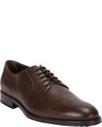 Zapatos derby de cuero en marrón oscuro