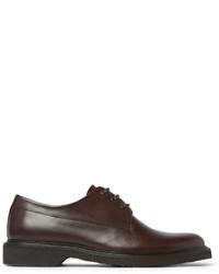 Zapatos derby de cuero en marrón oscuro de A.P.C.