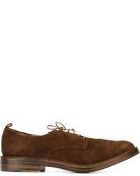 Zapatos derby de cuero en marrón oscuro de Buttero
