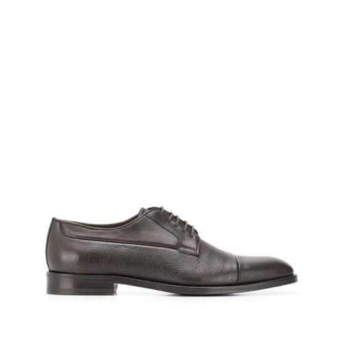 Zapatos derby de cuero en marrón oscuro de Canali
