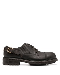 Zapatos derby de cuero en marrón oscuro de Dolce & Gabbana