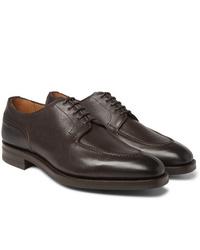Zapatos derby de cuero en marrón oscuro de Edward Green