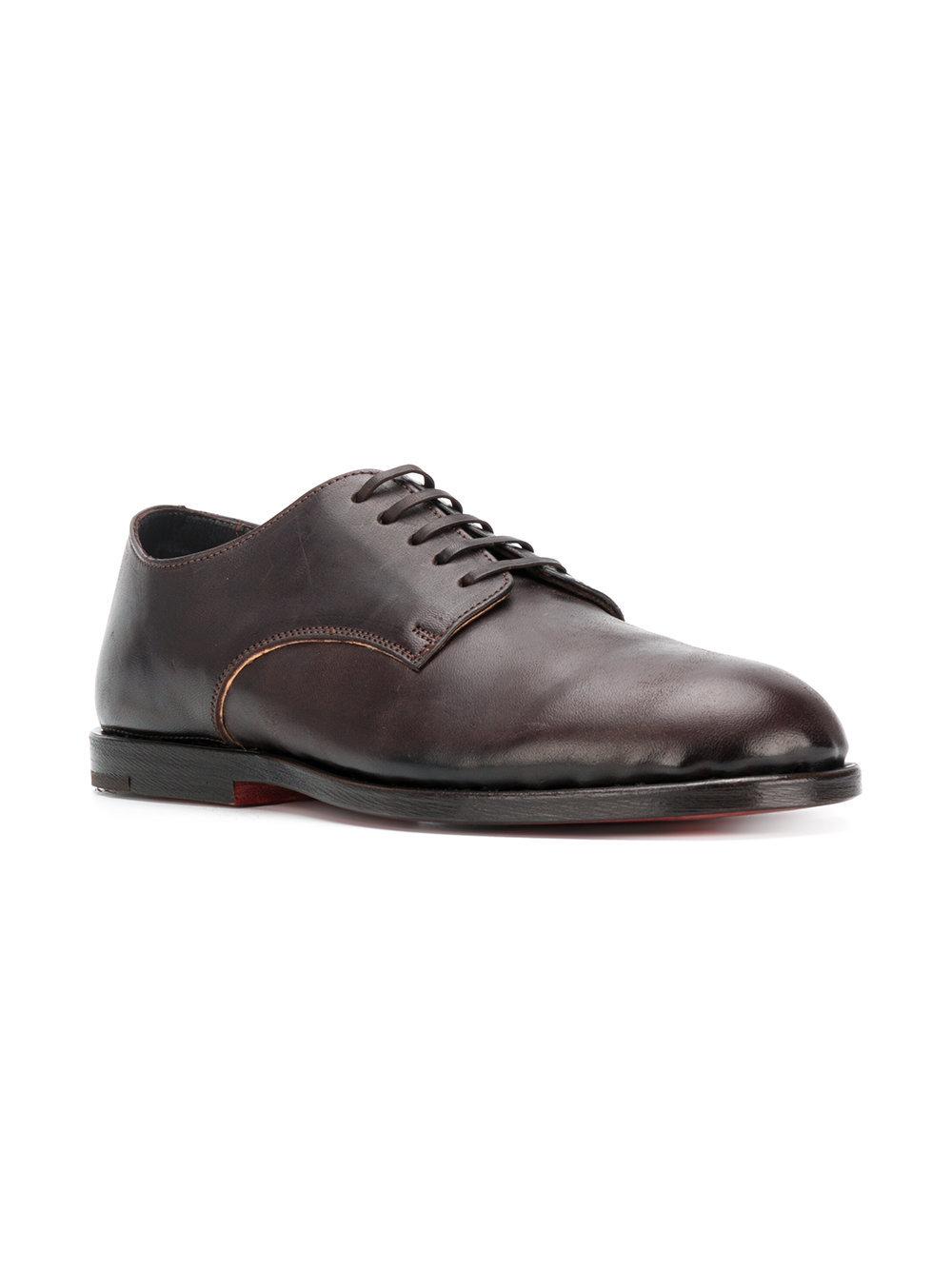 Zapatos derby de cuero en marrón oscuro de Measponte