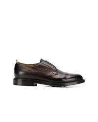 Zapatos derby de cuero en marrón oscuro de Officine Creative