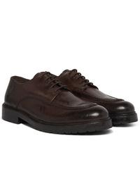 Zapatos derby de cuero en marrón oscuro de Officine Generale