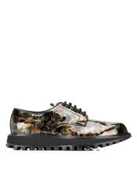Zapatos derby de cuero en multicolor de Dolce & Gabbana