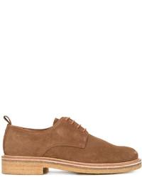 Zapatos derby de cuero en tabaco de AMI Alexandre Mattiussi