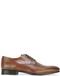Zapatos derby de cuero en tabaco de Kenzo