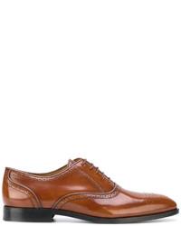 Zapatos derby de cuero en tabaco de Paul Smith
