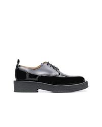 Zapatos derby de cuero gruesos negros de AMI Alexandre Mattiussi