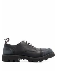Zapatos derby de cuero gruesos negros de Diesel