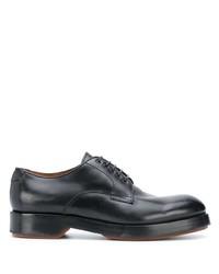 Zapatos derby de cuero gruesos negros de Ermenegildo Zegna