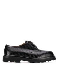 Zapatos derby de cuero gruesos negros de Marni