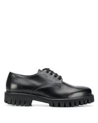 Zapatos derby de cuero gruesos negros de MSGM