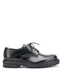 Zapatos derby de cuero gruesos negros de Officine Creative
