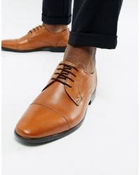 Zapatos derby de cuero marrón claro de Pier One