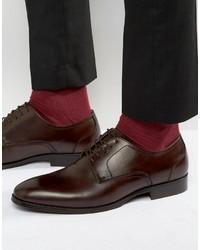 Zapatos Derby de Cuero Marrón Oscuro de Aldo