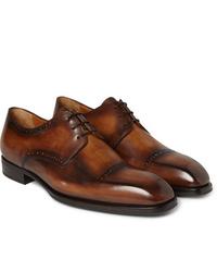 Zapatos derby de cuero marrónes de Berluti
