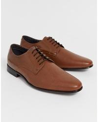 Zapatos derby de cuero marrónes de Burton Menswear