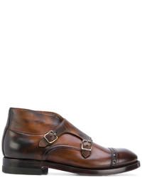 Zapatos derby de cuero marrónes de Eleventy