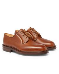 Zapatos derby de cuero marrónes de George Cleverley