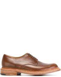 Zapatos derby de cuero marrónes de Grenson