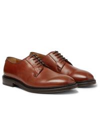 Zapatos derby de cuero marrónes de Mr P.