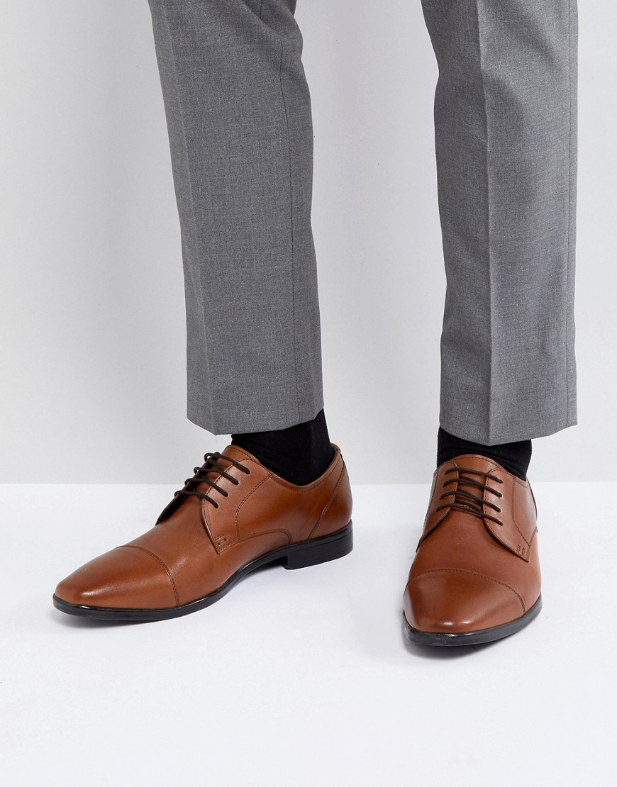 Zapatos derby de cuero marrónes de Pier One