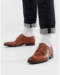 Zapatos derby de cuero marrónes de PS Paul Smith