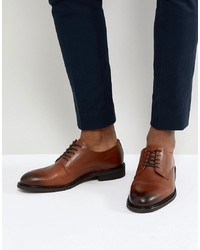 Zapatos derby de cuero marrónes de Selected Homme