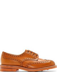 Zapatos derby de cuero naranjas