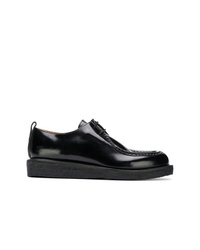 Zapatos derby de cuero negros de AMI Alexandre Mattiussi