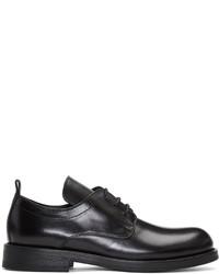 Zapatos derby de cuero negros de Ann Demeulemeester
