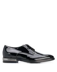Zapatos derby de cuero negros de Balmain