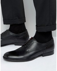 Zapatos Derby de Cuero Negros de Base London