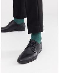 Zapatos derby de cuero negros de Burton Menswear