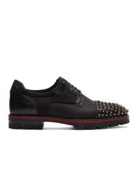 Zapatos derby de cuero negros de Christian Louboutin